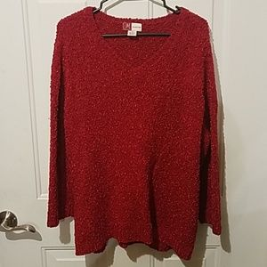 JM collection 2x red sweater
